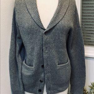 CLUB MONACO Gray Italian CASHMERE Cardigan Sweater